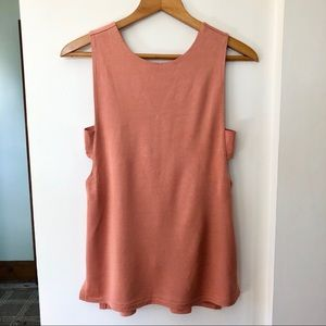 Banana Republic | Salmon Side-Cut-Out Top